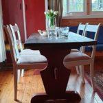 Hytte stor spisebord
